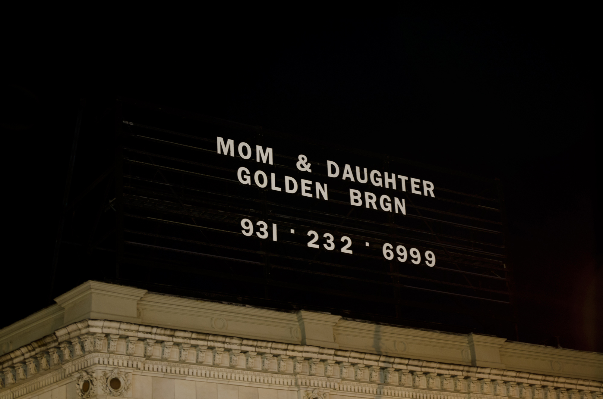 Mom & Daughter Golden Brgn